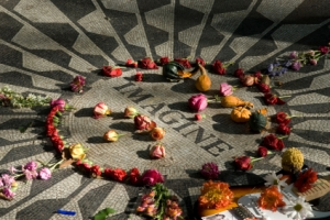 John Lennon tribute in Central Park NY