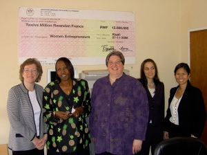 Meeting with the head of the Chamber of Women Entrepreneurs in Rwanda